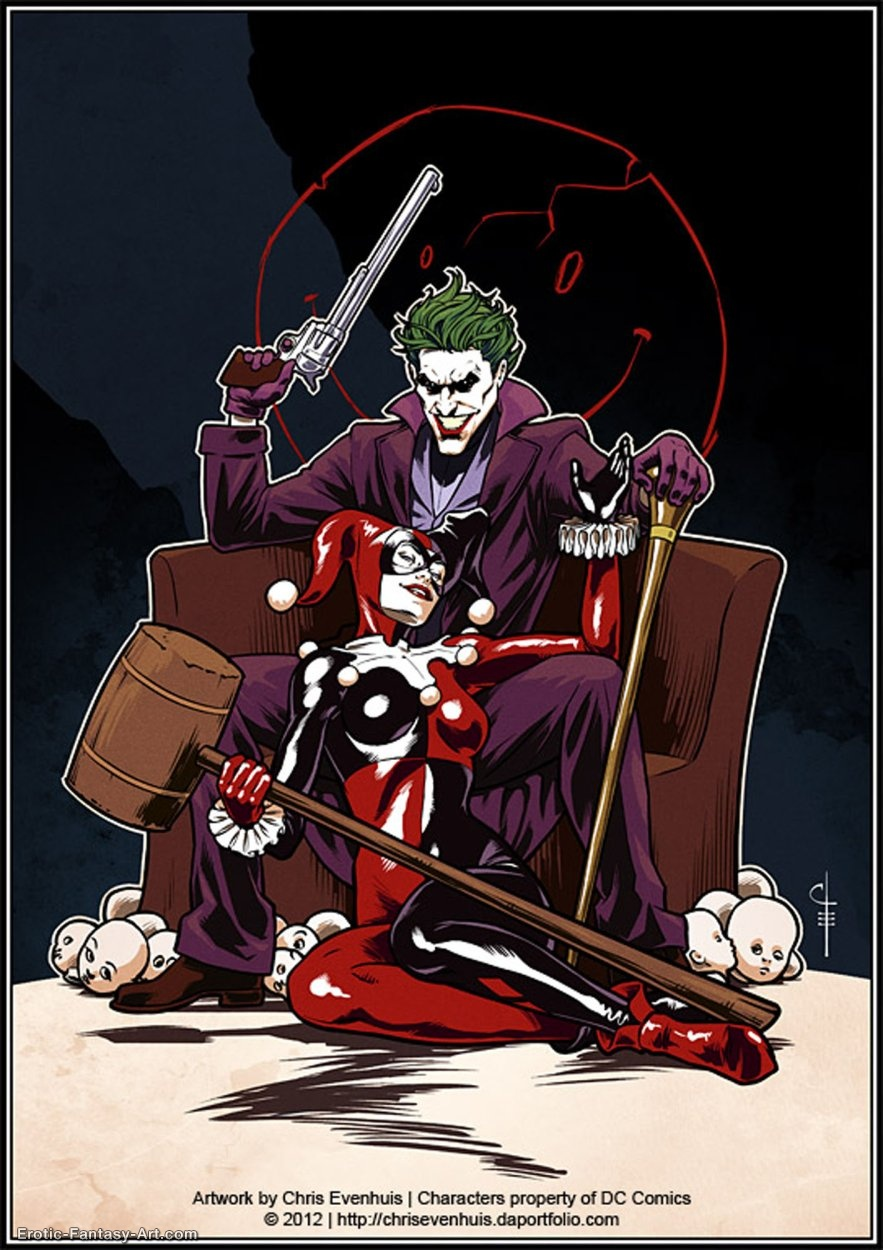 Chris Evenhuis-Joker   Harley  It  S Complicated By Chrisevenhuis-D5qmcu3